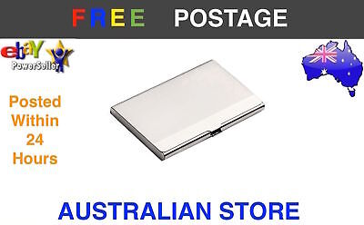 Silver Single Sided Cigarette Business Card Case Holder Box Tin Stainless Steel
