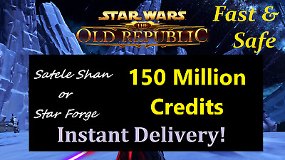 SWTOR 100 Million Credits (NA Servers : Star Wars The Old Republic) 100m Instant