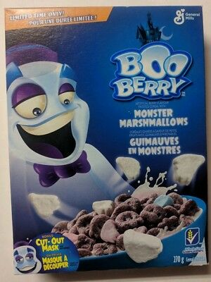 General Mills Boo Berry Limited Edition Halloween Cereal Marshmallow Ghosts