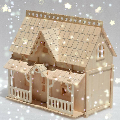 DIY Wooden Kids Dolls House Room Miniature Kit Play Toy Christmas Home Gifts 1