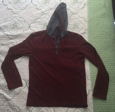 Sovereign Code Red Long Sleeved Hooded Shirt Small