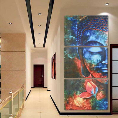 Large Abstract Canvas Modern Buddha Art Oil Painting Prints Wall Art Home