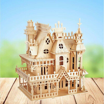 DIY Handcraft Miniature Project Kit Wooden Victorian Doll House Kids Gift