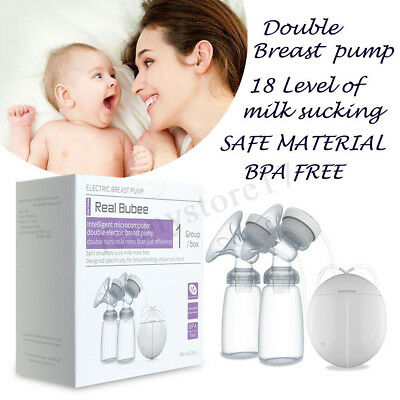 Electric Breast Pump USB Charing Double Automatic Massage Suction Baby Feeder 1