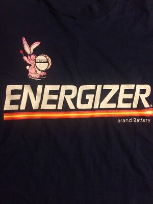 Vintage 90's ENERGIZER Batteries BUNNY Shirt Adult XL And Going 2 Sided
