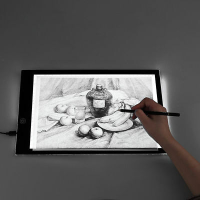 A4 A3 LED Ultra Slim Art Craft Drawing Copy Tracing Tattoo Lights Box Pad Board