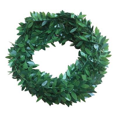 Christmas Wreath Showcase Hanging Decoration Artificial Green Leaf Door Ornament