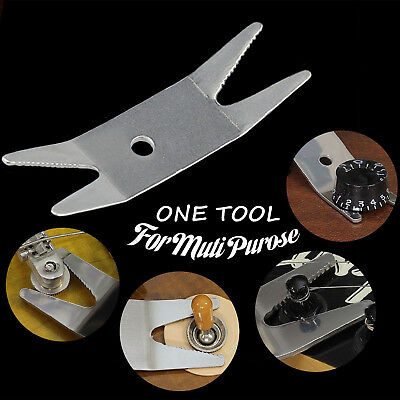 Guitar Bass Multi Spanner Wrench Tool for Tightening Pots, Switches, & Jacks  1