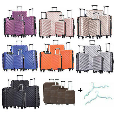 Set of 3/4 Travel Luggage Sets Carry On Hardshell ABS Spinner Trolley Suitcase