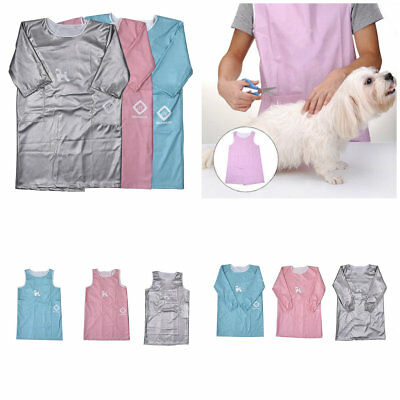 Waterproof Pet Dog Cat Grooming Gown Apron Beauty Cloth With Sleeve /Sleeveless