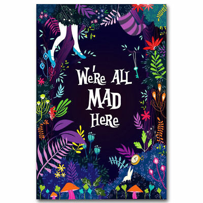 PSYCHEDELIC ALICE IN Wonderland Trippy Art Silk Poster Decor 8x12 ... 41e54e6c578b