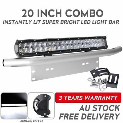 Offroad 20inch 7D CREE LED Light Bar + 23'' Number Plate Frame Mount Bracket