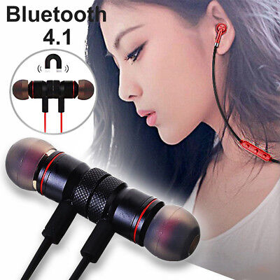 Sport Bluetooth 4.1 Wireless Magnet Stereo Earphone Earbuds Headset Headphone
