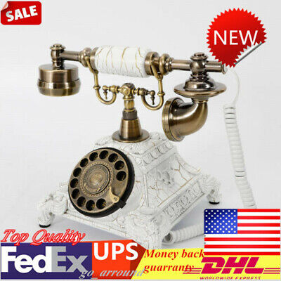 Retro Vintag Phone Old Fashion Rotary Telephone Antique Office Home Handset