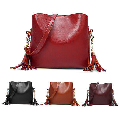 Women Faux Leather Messenger Bag Crossbody Shoulder Handbag Tote Purse Luxury