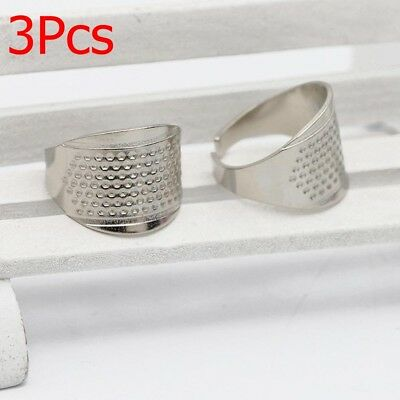 3X Thimble Sewing Quilting Metal-Thimble Ring DIY Leather Craft Finger Protector