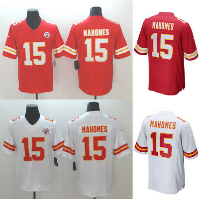 New Men's Kansas City Chiefs #15 Patrick Mahomes Red/White Jersey Size M-XXXL