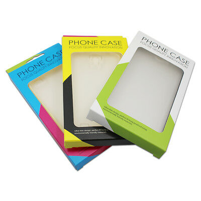 9x16x1.5cm Mobile Cell Phone Paper Case Christmas Gift Hang Hole Packaging Boxes