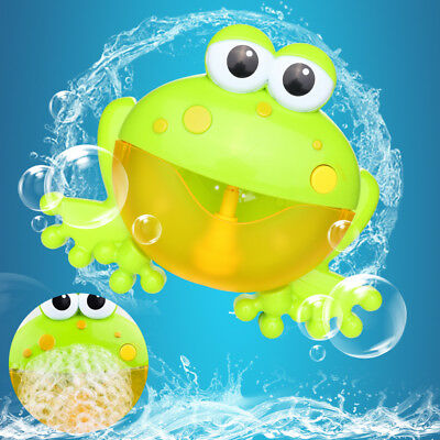 Bath Toy Bubble Tub Frog Crab Automatic Shower Maker Machine Music For Kids Baby