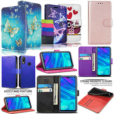 For Huawei P Smart 2019 Shockproof PU Leather Wallet Phone Flip Stand Case Cover