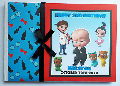 Personalised Boss Baby Birthday Guest Book - Any Design
