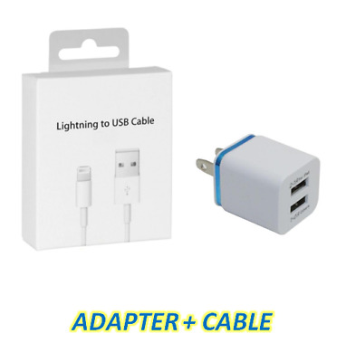 IPhone Lightening USB Charger and Two-Port Adapter for Apple IPhones For IPads