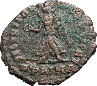GRATIAN 367AD Rome R dot PRIMA Ancient Roman Coin Possibly Unpublished i74240