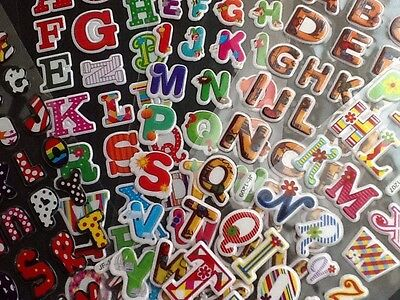 PVC padded Stickers ALPHABET 15 Packs 5 Different 3 Of Each - Teaching Children