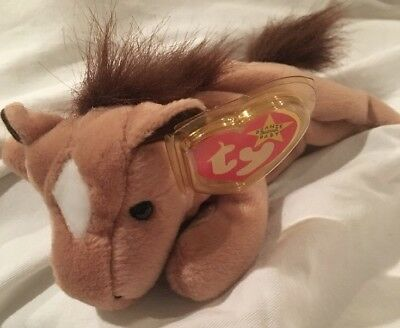 TY Beanie Babies DERBY the Horse MINT w/MINT Tags & Tag Protector 1995 FINE MANE