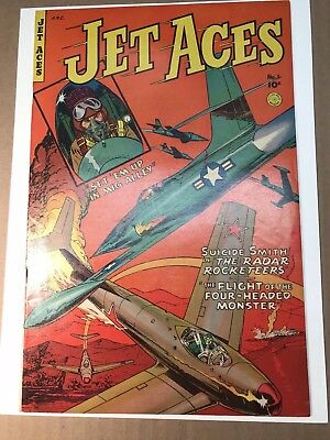 Jet Aces #1 (1952) 7.0 W First Issue Beautiful Fiction House War!