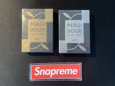 Art of Play Peau Doux Cardini Playing CardsSILVER /& GOLD SEALED SET OF 2