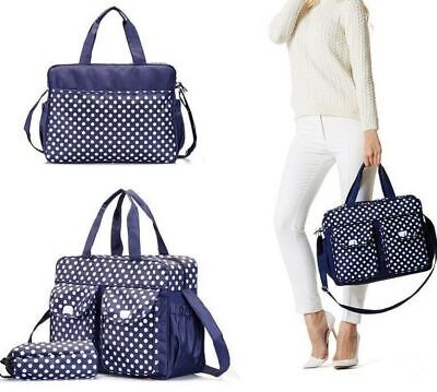 3PCs Black Baby Nappy Changing Diaper Bag Set 3in1 Rug, Bottle Holder, Bag BK01