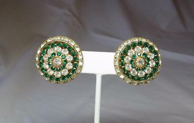 Vintage & Antique Jewelry Jackie Collins Estate Earrings Art Deco Rhinestone Paste Monumental Celebrity