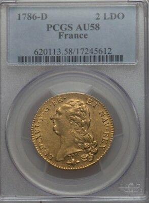 DOUBLE LOUIS D'OR 1786 D (Lyon) NGC AU58 SUP  (R3)