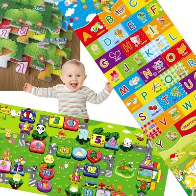 Puzzle Play mat Education Baby Kids Child Rug Foam Exercise 175x120cm 2 side P05