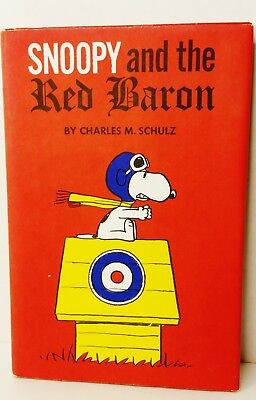 EUC --Vintage 1966 First Edition SNOOPY And The RED BARON C M SCHULZ DUST JACKET