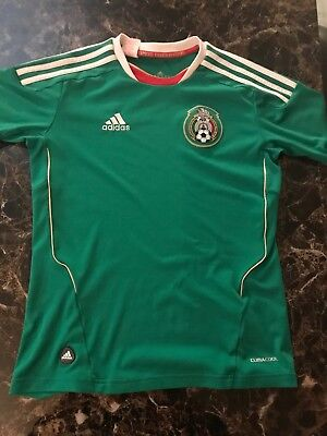 b6ce813bc84 Adidas Mexico Soccer Jersey Youth Large Climacool Somos Guerreros Velvet  Patch