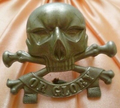 VINTAGE 17th/21st Lancers (Death or Glory) Regiment Cap 2 Lugs Original/Genuine