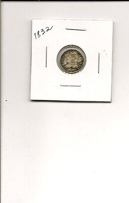 1832 90% Silver Capped Bust Half Dime Coin! Nice Rare Coin!