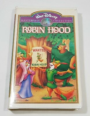 Walt Disney Masterpiece Collection Robin Hood VHS in Clam Shell