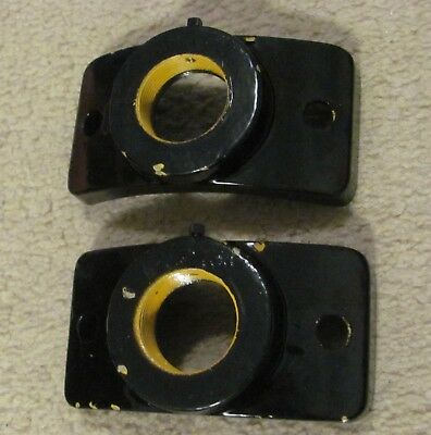 1 Pair of wood pole pipe hubs for traffic signal light brackets (B)