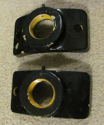 1 Pair of wood pole pipe hubs for traffic signal light brackets (C)