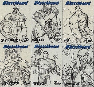 1998 Marvel Creators Collection MCC98 SKETCHBOARD SET (23) - BLUE