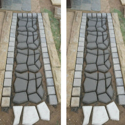 1XGarden DIY Driveway Paving Brick Stone Slabs Path Walk Maker Mould Pavement UK