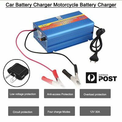 12V Car Battery Charger 30 Amp 12V ATV Boat 4WD Caravan Motorcycle FK