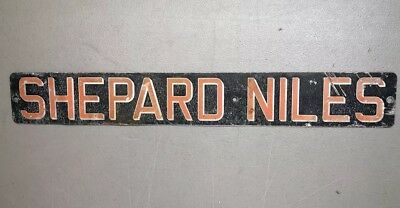 Vintage Sign Shepard Niles Crane Company 1940s Authentic RARE SHIPS FREE IN USA