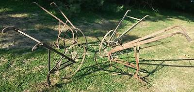Iron Antique Walk Behind Plow (Cultivator),  with 2 attachments! (CHOICE OF 1)