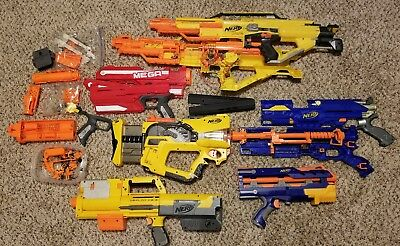 Lot of Nerf parts for repair/mods Stampede Mega Long Strike Firefly Deploy