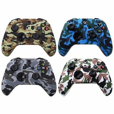 Water Transfer Printing Camouflage Silicone Cover Skin Case for Microsoft  D3C4)