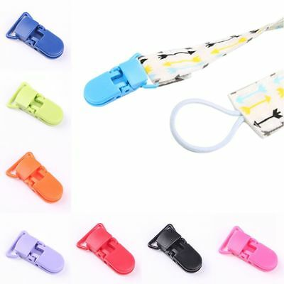 Dummy Clips Plastic Suspender Soother Pacifier Holder For Babies 10pcs